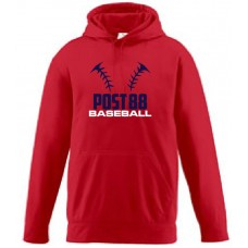 Augusta Wicking Fleece Hooded Sweatshirt- Post 88